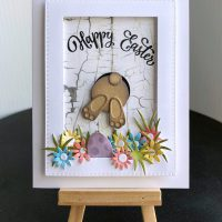 Happy Easter Bunny Frame Card