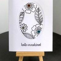 Hello Sunshine Inside Shadow Box Card