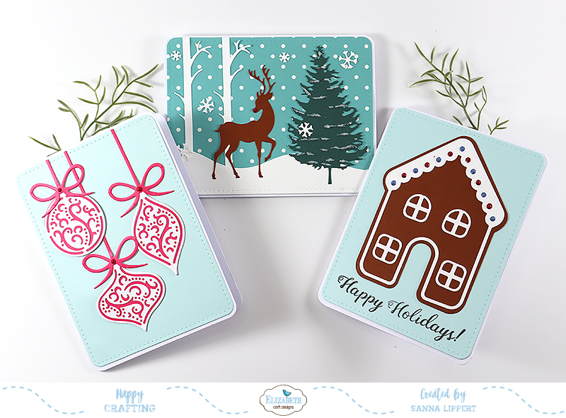 Reindeer /& Snow Scene Christmas Card Peel Off Sticker Sheet  Art /& Craft
