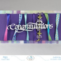 Ribbon Streamers Congratulations Card