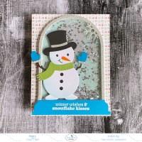 Snowman Shaker Globe Card