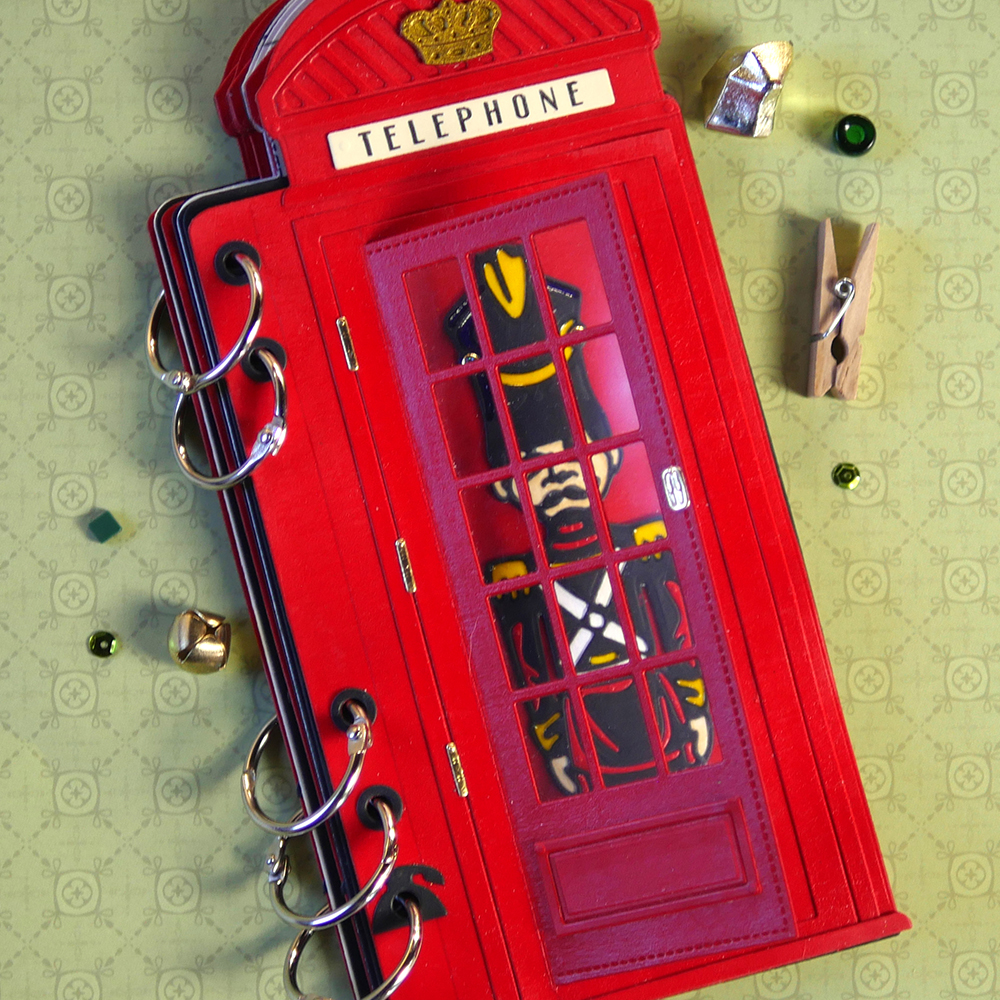 PHONE BOOTH Special Stamp Set  Clear Stamps Elizabeth Craft Designs