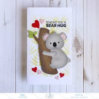 Mini Slimline Sending You A Bear Hug Card