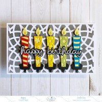 Birthday Candles Mini Slimline Card