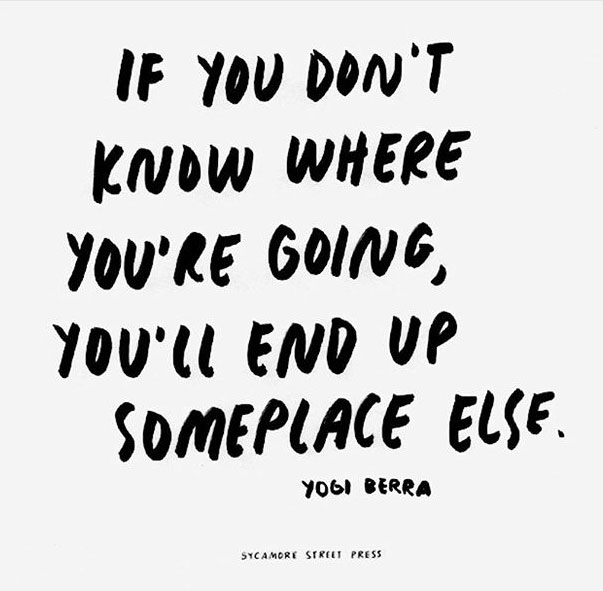 If You Don't Know Where You Are Going, You'll End Up Someplace Else Quote