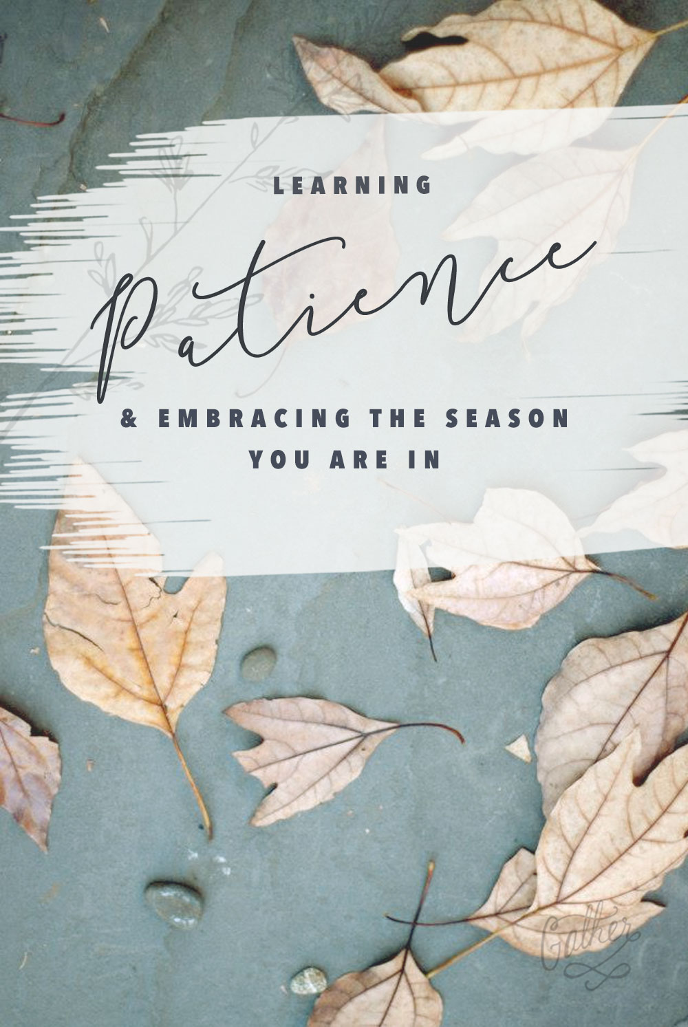Learning Patience & Embracing The Season You Are In | Gather Goods Co