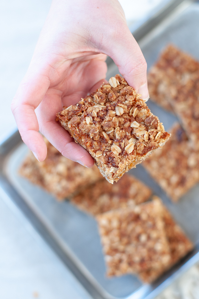 Honey Apricot Snack Bars Recipe by Triangle Pastry Co, Food Photography by Michelle Smith for Gather Goods Co
