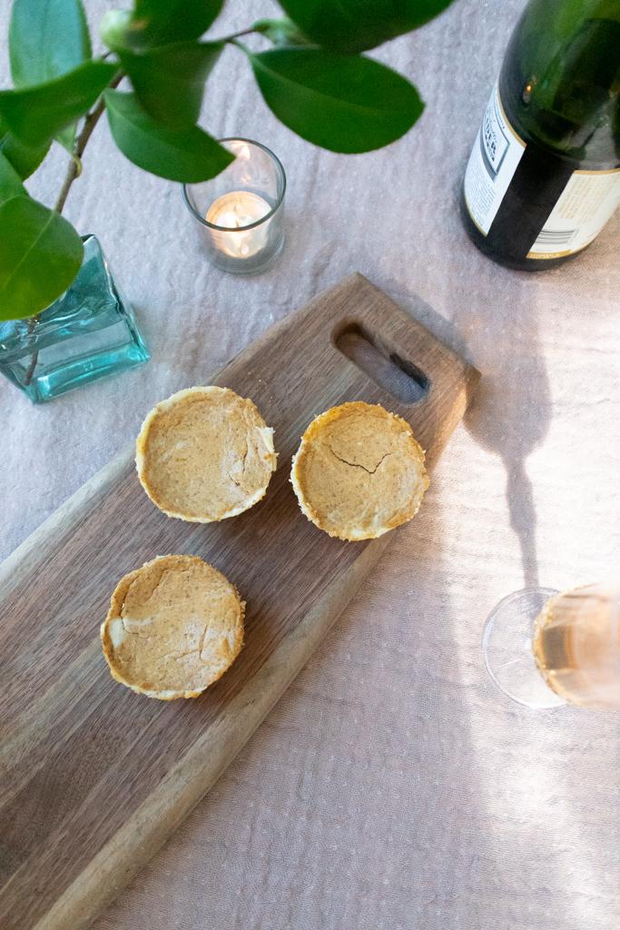 Mini Pumpkin Cheesecake Recipe. Photo by Michelle Smith Creative for Gather Goods Co