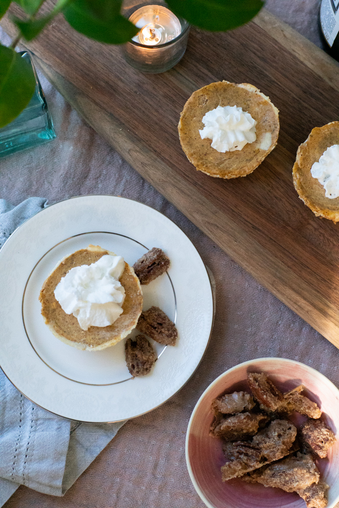 Mini Pumpkin Cheesecake Recipe. Photo by Michelle Smith Creative for Gather Goods Co