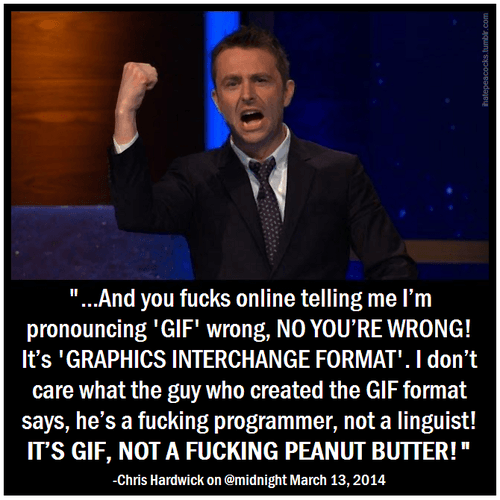 JIF vs GIF - GiveMeSomeEnglish!!!