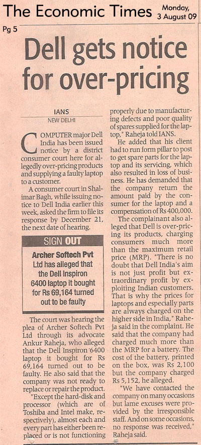 Economic Times - DELL Case