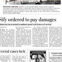 Press Update: 'The Hindu' reports SIFY case...
