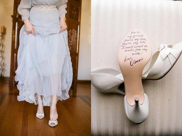 un jolie id e de mariage message de votre ch ri sous la chaussure happy chantilly. Black Bedroom Furniture Sets. Home Design Ideas