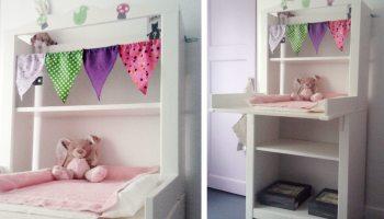 Jolie chambre de bébé rustique -
