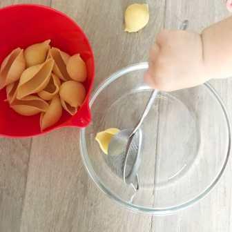 Grosse Pates + mini passeoire (Bec verseur + Saladier en verre)