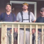 Mitchell, with volunteer carpenters Ben and Juan Oct 21