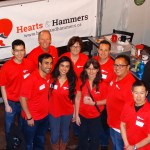 Hearts and Hammers Team at Fundraiser