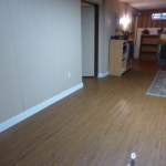 Completed floor and baseboards