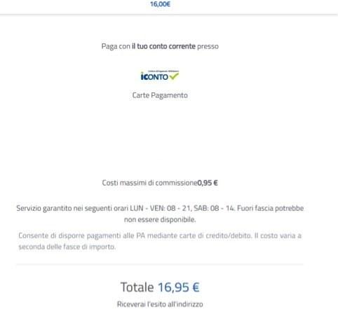 schermata pagamento