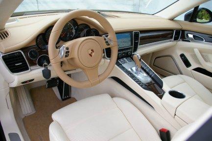 Dashboard Faceoff: Tesla Model S vs. Porsche Panamera