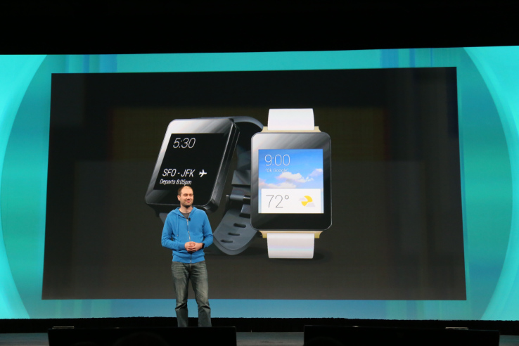 Google zeigt Android Wear Smartwatches (Bild: techrunch.com)