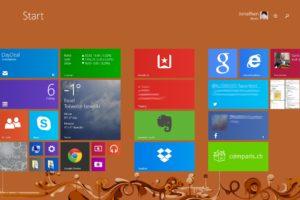 """Screenshot des """"Start"""" Bildschirms"""