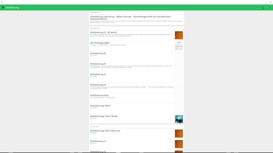 Screenshot der Evernote-Android-Chrome OS App
