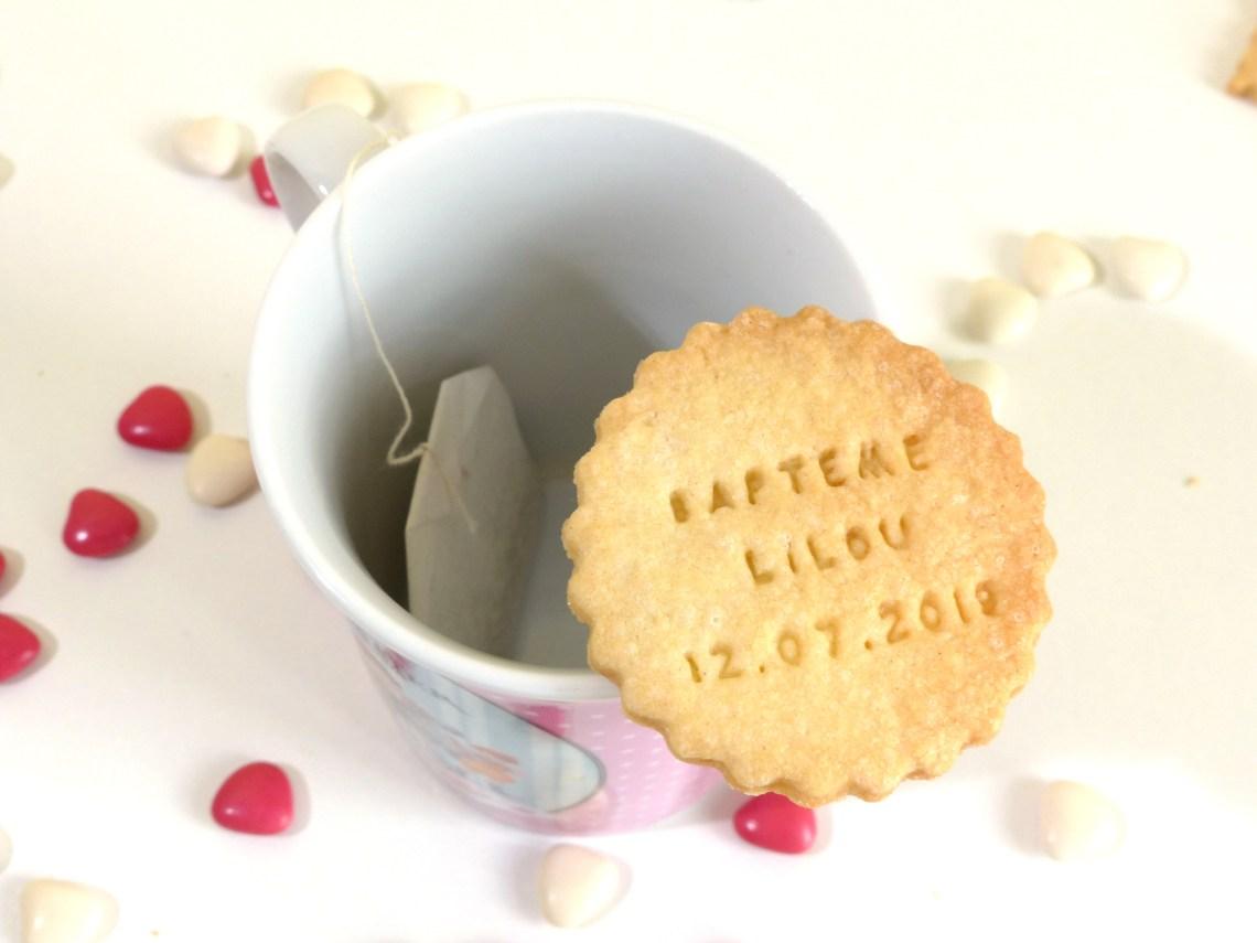 biscuit sablé personnalisé rond festonné