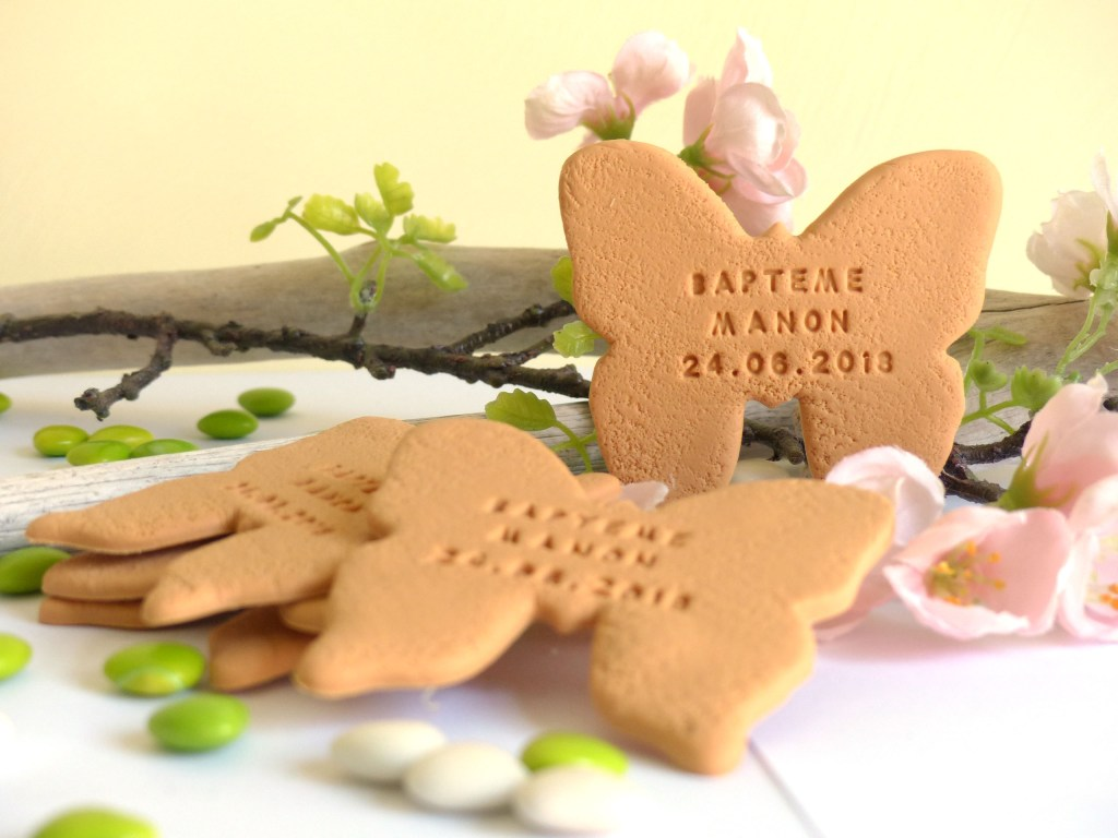 baptême thème papillon, cadeau invité