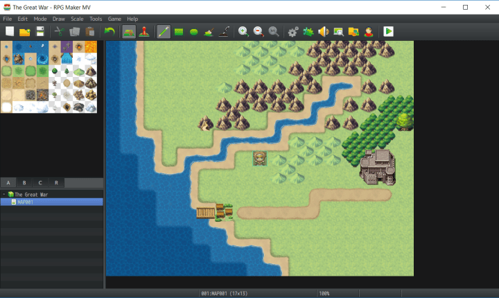 RPG Maker Edited Map