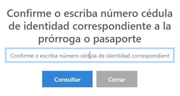 Consultar prórroga de pasaporte venezolano