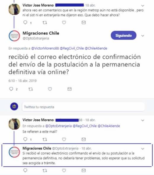 PEDE en Chile