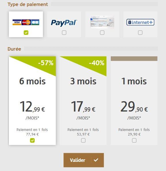 Tarfis & Abonnements 2016 - CelibParis