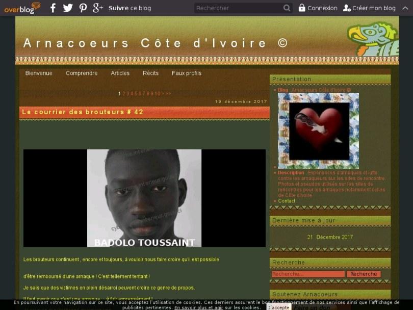 Arnacoeurs.com - Escrocs en Côté d'ivoire