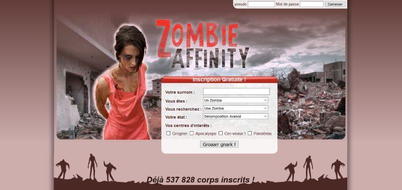 Zombie Harmony et Zombie Affinity - Avis sur ces deux sites de rencontres