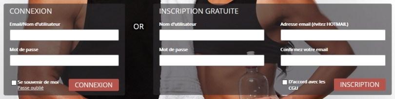 Inscription Connexion - Lovin Sport