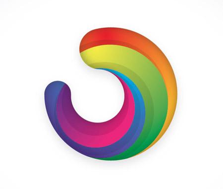 Colourful logo icon