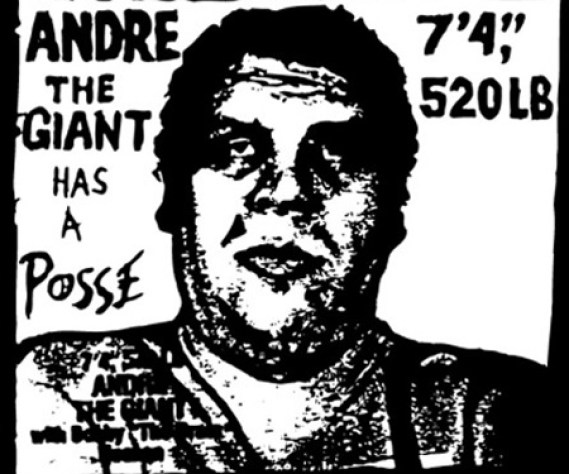 "street art Shepard Fairey Andre the Giant Has a Posse, 7'4"", 520LB"