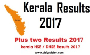 Kerala HSE 2nd year Results 2017