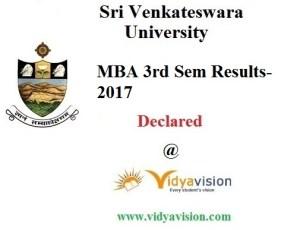 svu mba 3RD SEM results