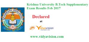 KRU B.Tech Supply Sem Results 2017