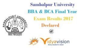 Sambalpur University BBA BCA Final Year Results 2017
