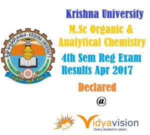 KRU M.Sc 4th Sem Reg Results 2017 - Declared