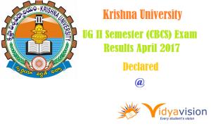 KRU II Semester UG (CBCS) Exam Results April 2017