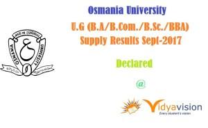 Osmania-University UG Results 2017