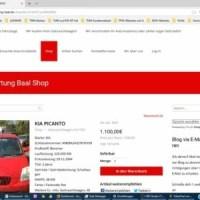 Autoverwertung Baal Projekt Webseite, Blog mit Shop