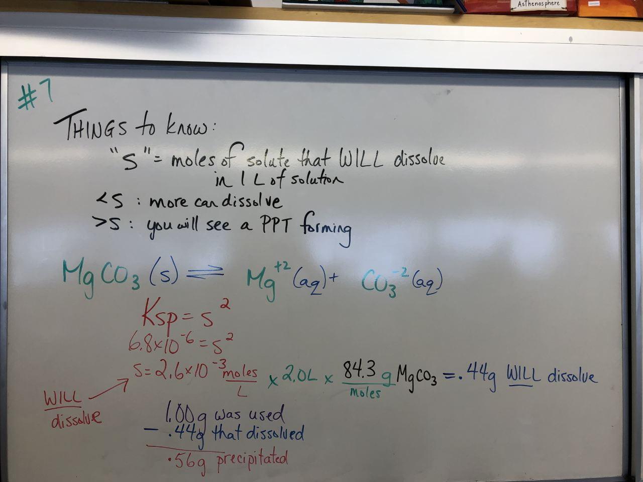 Chem 12 Unit 3 Ksp