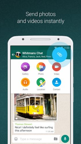 تحميل برنامج مكالمات فيديو وصورة واتساب مجانا Whatsapp 2018