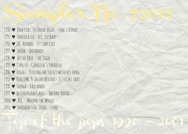 4more Sampler 72015 Top of the pops 1990-2001