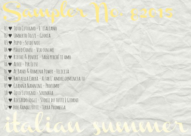 4more Sampler 82015 italian summer